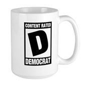 Content Rated Democrat Large Mug