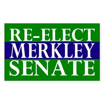 Re-Elect Merkley to the U.S. Senate bumper sticker
