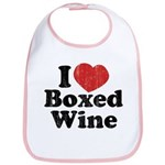 I Heart Boxed Wine Bib