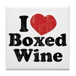 I Heart Boxed Wine Tile Coaster