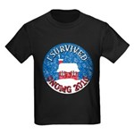 I Survived SNOMG 2010 Kids Dark T-Shirt