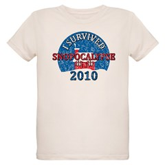I Survived Snopocalypse Blizzard of 2010  Organic Kids T-Shirt