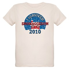 I Survived Snomaggedon Blizzard of 2010 Organic Kids T-Shirt