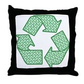 Path to Recycling Throw Pillow