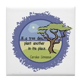Linnaeus Quote Tile Coaster