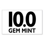 10.0 Gem Mint Sticker (Rectangle)
