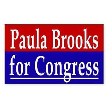 Paula Brooks for Congress (anti-Tiberi, pro-alternative bumper sticker)