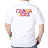 Obama Flowers 2012 Golf Shirt