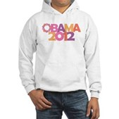 Obama Flowers 2012 Hooded Sweatshirt