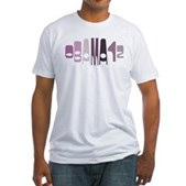 Obama12 Oval (purple) Fitted T-Shirt