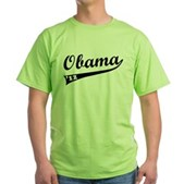 Obama 2012 Swish Green T-Shirt