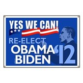 Show your support for Barack Obama's Presidential re-election campaign in 2012 with this unique sign. Yes We Can - Re-elect Obama-Biden in 2012!