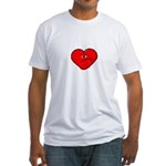 Anti-Love Heart Fitted T-Shirt