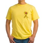 Yellow Ribbon Love Miss Soldier Yellow T-Shirt
