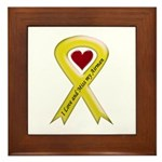 Yellow Ribbon Love Miss Airman Framed Tile
