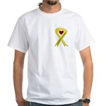 Yellow Ribbon Love Miss Airman White T-Shirt