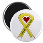 "Yellow Ribbon Love Miss Sailor 2.25"" Magnet (10 pa"