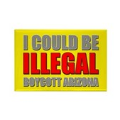 Could Be Illegal - Boycott AZ Rectangle Magnet