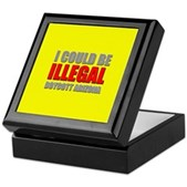 Could Be Illegal - Boycott AZ Keepsake Box