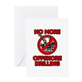 No More Offshore Drilling Greeting Card