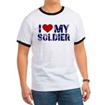 I heart love my Soldier Army Ringer T
