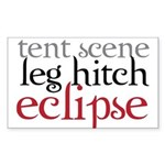 Tent Scene, Leg Hitch, Eclipse Sticker (Rectangle)