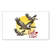 Gulf Coast Pelicans Sticker (Rectangle)