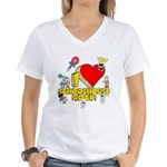 I Heart Schoolhouse Rock! Women's V-Neck T-Shirt