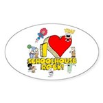 I Heart Schoolhouse Rock! Sticker (Oval 50 pk)
