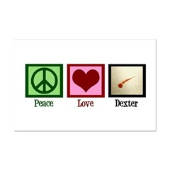Peace Love Dexter Mini Poster Print