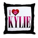 I Heart Kylie Throw Pillow
