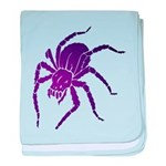 Purple Spider Infant Blanket