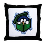 Penguin in a Box Throw Pillow