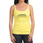 Jr. Spaghetti Tank : Sizes S,M,L,XL  Available colors: White,Light Blue,Light Pink,Lemon