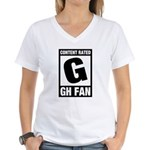 Content Rated G: General Hospital Fan Women's V-Neck T-Shirt