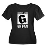 Content Rated G: General Hospital Fan Women's Plus Size Scoop Neck Dark T-Shirt