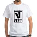 Content Rated V: V Fan White T-Shirt
