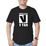 Content Rated V: V Fan Men's Fitted T-Shirt (dark)