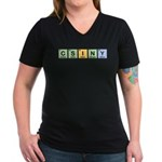 CSINY Made of Elements Women's V-Neck Dark T-Shirt