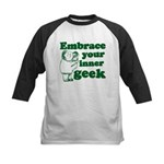 Embrace Your Inner Geek Kids Baseball Jersey