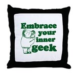 Embrace Your Inner Geek Throw Pillow