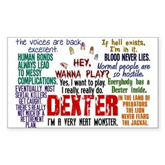 Dexter Quotes Collage Sticker (Rectangle)