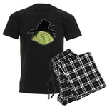 Happy Green Witch Men's Dark Pajamas