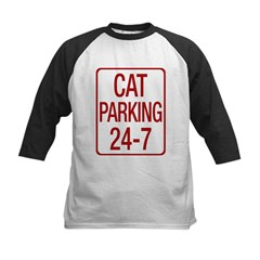 Cat Parking Kids Baseball Jersey