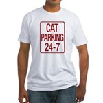 Cat Parking Fitted T-Shirt