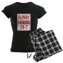 Bunny Parking Women's Dark Pajamas