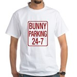Bunny Parking White T-Shirt