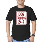 Dog Parking Men's Fitted T-Shirt (dark)