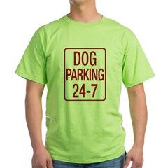 Dog Parking Green T-Shirt