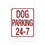 Dog Parking Mini Poster Print